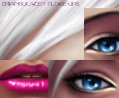 Triangulated Close-Ups by BloodAppleKiss