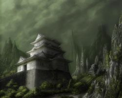 Japanese castle by xpe