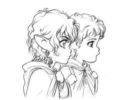 Frodo and Sam by SapphireGamgee