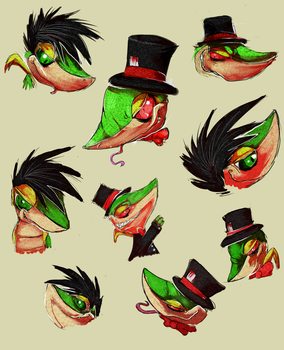 Sir Snivington and Jigsaw Doodles by Ink-Leviathan