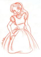 Red Pencil Alice by Anamated