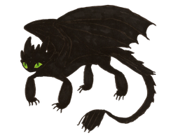 Transparent Toothless by MommaCabbit