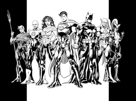 Jim Lee Justice League Retake - Inks by EarthmanPrime