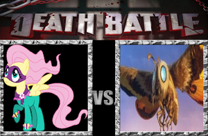DEATH BATTLE Fluttershy vs Mothra by V1EWT1FUL