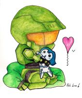 Chibi Halo Love by Laura-Bosley
