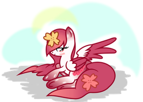 Peachy relaxing by Archonitianicsmasher
