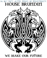 House Brundin Hydra Sigil Design by WildSpiritWolf