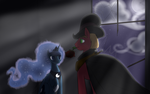Commission:  The Apple and the Night. by Dreatos