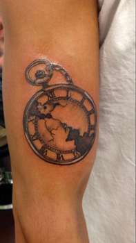 Pocket Watch Tattoo by itchysack
