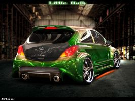 Opel Corsa Green Hulk - back by Stan88
