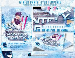 Winter Party Flyer Template by ranvx54