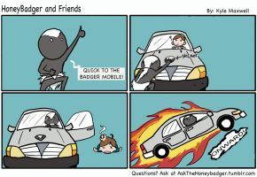HoneyBadger and Friends #6- The Badger Mobile by Enigma-Thirteen