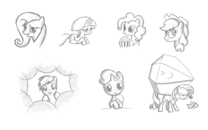 Just a few sketches. by MyLittleArts