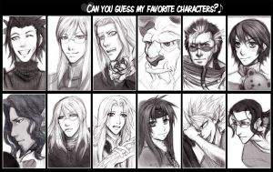 Fav characters meme- Male by Loreen