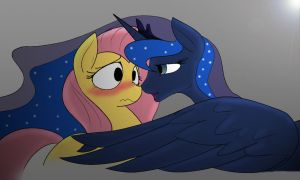 Fluttershy And Luna by j5furry