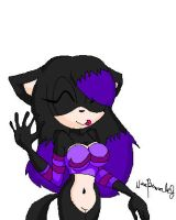 Purple Emo Cat by Nina-Therese