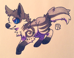 Creature Chib Commish - JellyKiwi by Kaweki