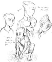 Little Liara Sketches by LilChimp