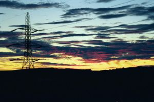 sunset and pylon by kirstwils