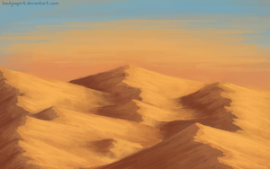 desert speedpaint by BaukjeSpirit
