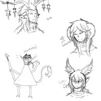 Ponchobi Doodles by MelodicPoet