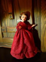 Doll Red Civil War dress by kayanah