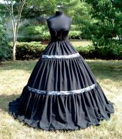 Black Taffeta + Lace Petticoat by DesignsbyLadyFaire