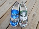 Batman and Joker kicks by SoleBliss