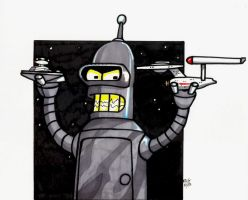 Bender, star wars VS star trek by rekmac