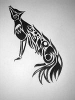 tribal wolf by Sizhiven