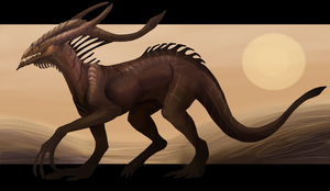 Beast in the desert by Dimenran