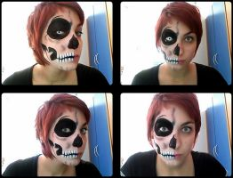 Skull Makeup by TsubameRain