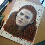 Ygritte Color Pencil Drawing by AtomiccircuS