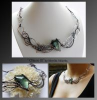 Chaos III- wire wrapped copper necklace by mea00