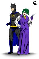 Commission: Batman and the Joker by shadow-of-insanity