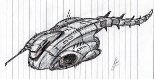 """Lucretia"" Frigate Concept WIP by Inquisitor-No-7"