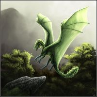 Another green dragon by Isdrake