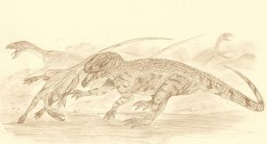 Polonosuchus and Silesaurus by Kahless28