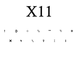 X11 Cursors by blackevilweredragon