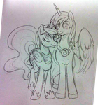 Bronycon Commission OC and Luna by BuckingAwesomeArt