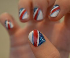 Fourth of July Nails by yobanda