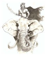 elephant princess by JohnArmbruster