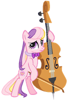 G3 Fluttershy as Octavia by AdolfWolfed4Life