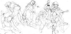 Collection of sketches II by htx