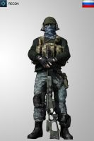 Battlefield 3 Recon RUS Soldier Iphone Wallpaper by Kikkah070
