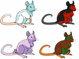 Rat Adoptables 2 by D-Boo-26