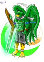 Lester the shaman of the wind (colorata) by Lickan-Nicol