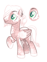 Dusty Rose Pegasus Adoptable [Closed] by CorailJay