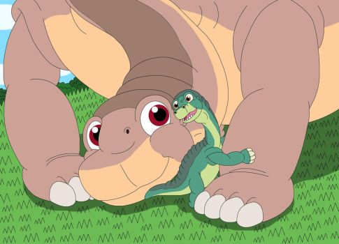 Littlefoot and Skitter are best friends by MCsaurus