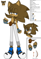 Sagittarius the hedgehog Ref sheet by 1horsey10